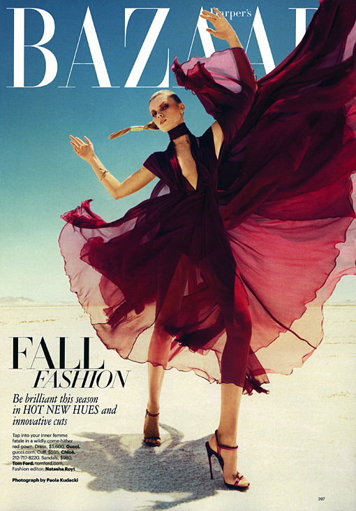 Maryna Linchuk in TOM FORD for Harper's Bazaar, September 2011 1 MARYNA LINCHUK HARPERS BAZAAR SEPTEMBER 2011 PAOLA KUDACKI 397