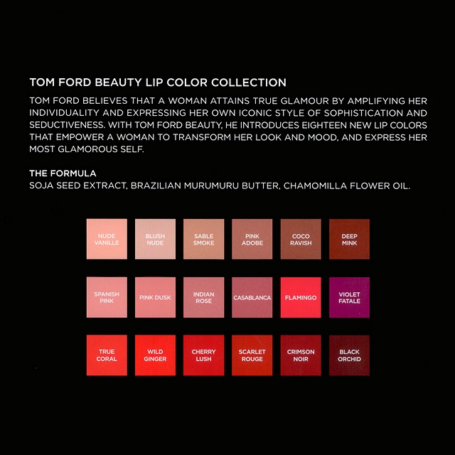 The Complete TOM FORD Beauty Collection: What You Need to Know Tom Ford Sneak Peek Lip Color
