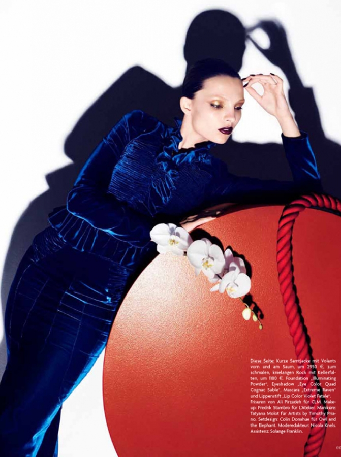 Carola Remer in head to toe TOM FORD for Vogue Germany, September 2011 carola2