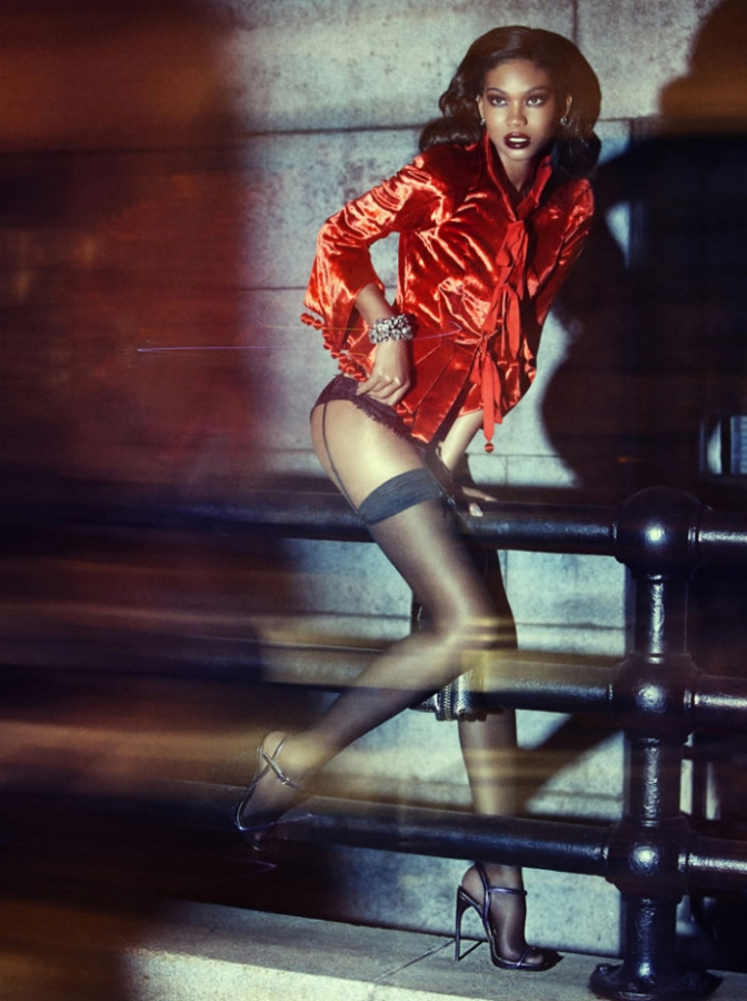 Chanel Iman wears TOM FORD for Wonderland Magazine (NSFW) Chanel Ford Wonderland 03 