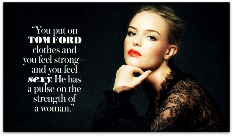 Kate Bosworth wears TOM FORD for InStyle, November 2011 katetominstyle