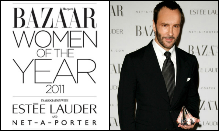 Tom Ford Honored as Harpers Bazaar UKs Man in a Womans World award