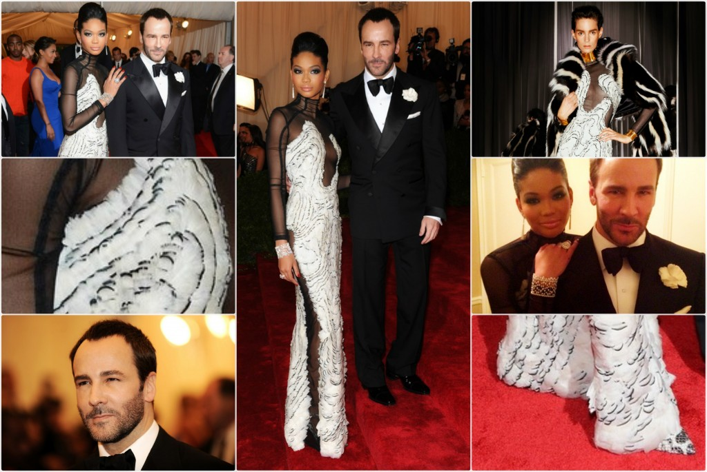 Chanel Iman Wears TOM FORD Autumn/Winter 2012 to Met Costume Institute Gala ChanelIman TomFord MetGala 1024x685