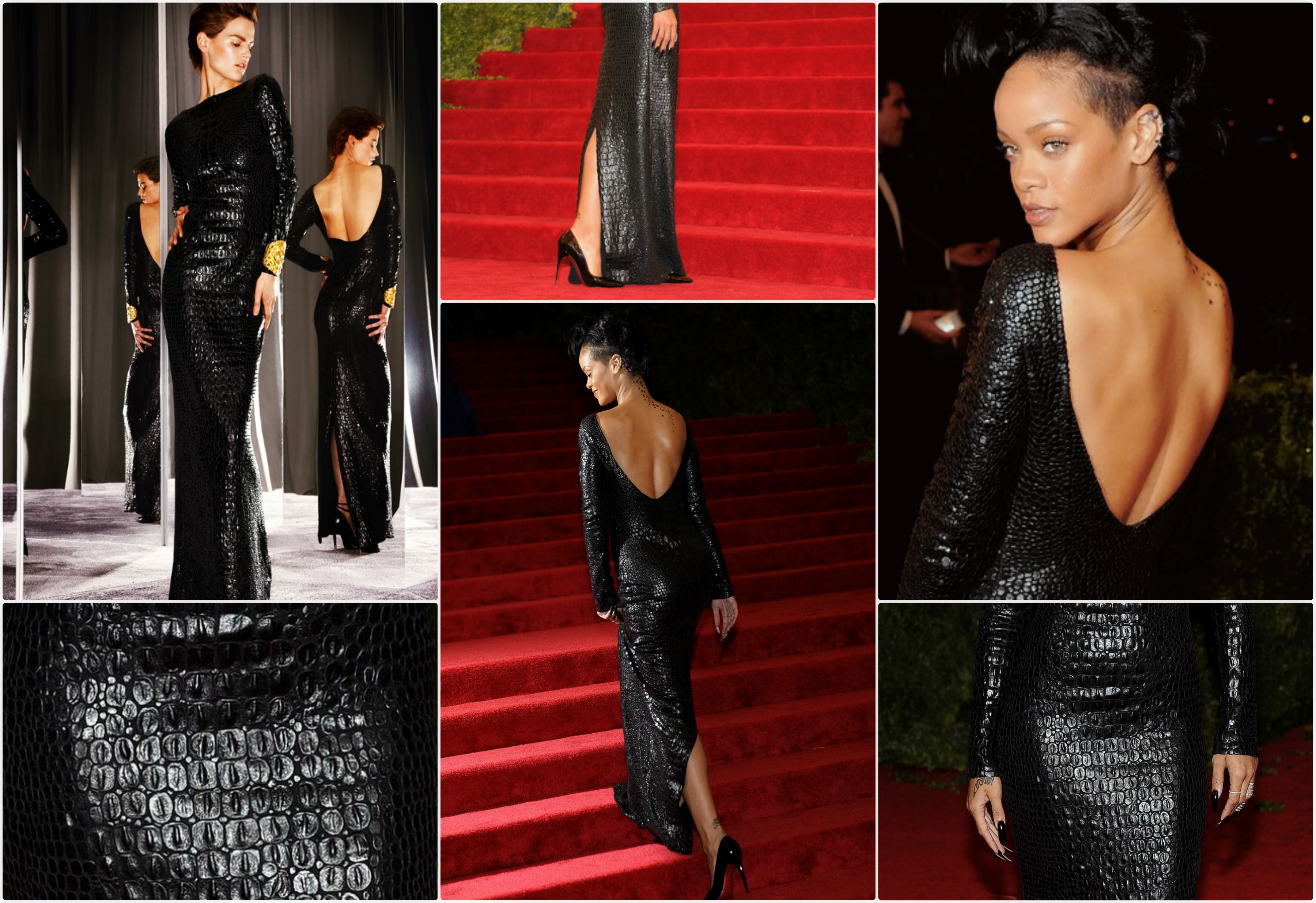 b1f775c63255 Rihanna Wears TOM FORD Autumn Winter 2012 to Met Costume Institute Gala