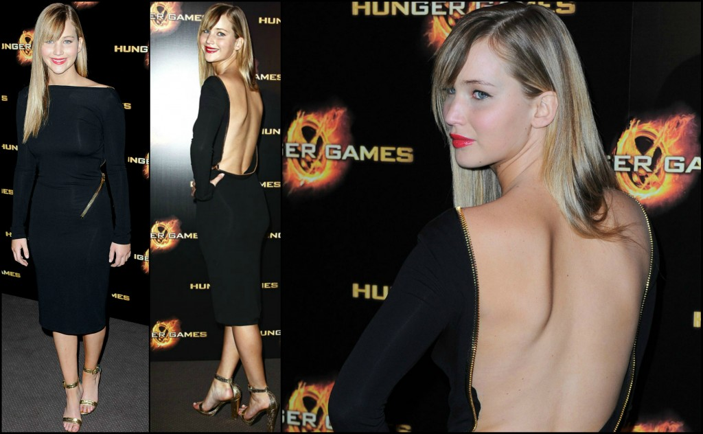 Who Wore it Better: TOM FORD Double Georgette Zip Cocktail Dress JenniferLawrence TOMFORD HungerGames2 1024x632