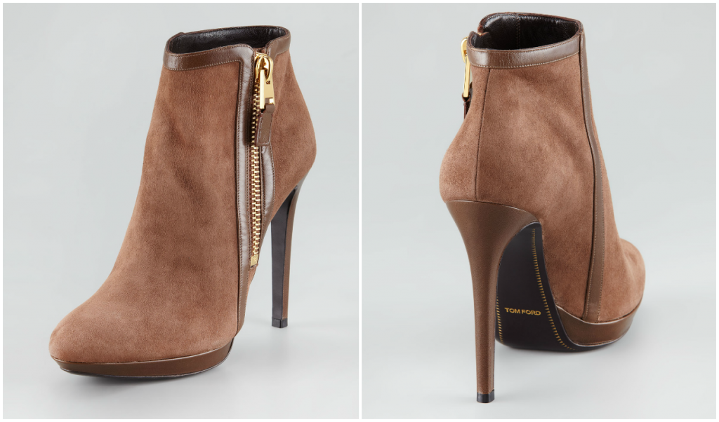 HOT: Buy TOM FORD Shoes and Handbags Online Now! TOM FORD LEATAHER PANEL SUEDE BOOTIE 1024x602