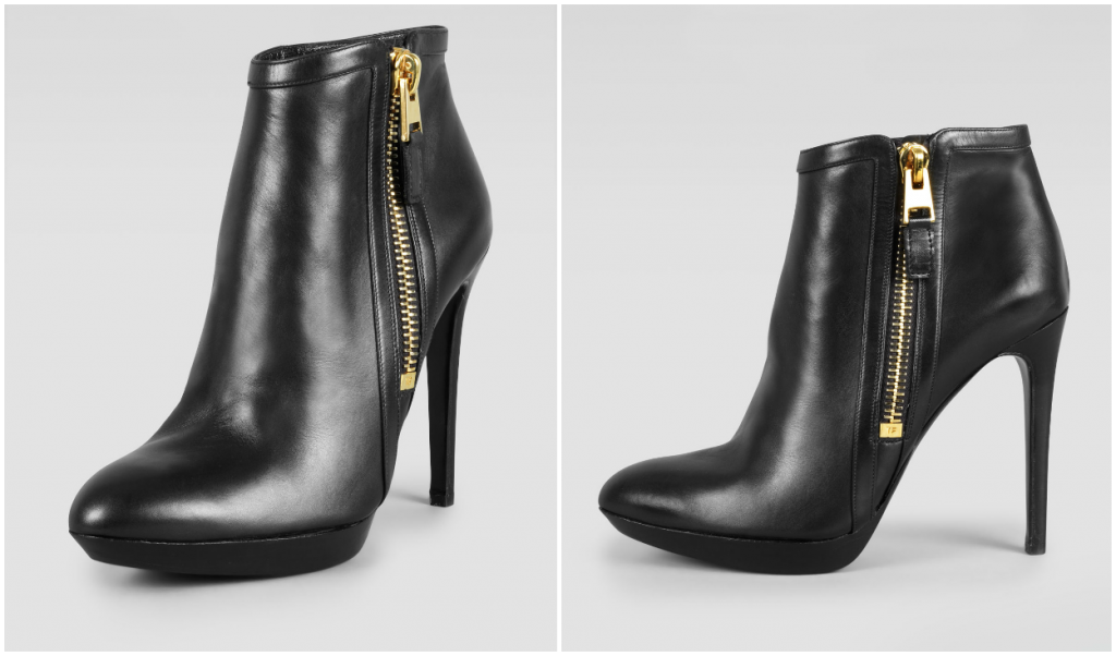 HOT: Buy TOM FORD Shoes and Handbags Online Now! TOM FORD OUTSIDE ZIP ANKLE BOOTIE 1024x602