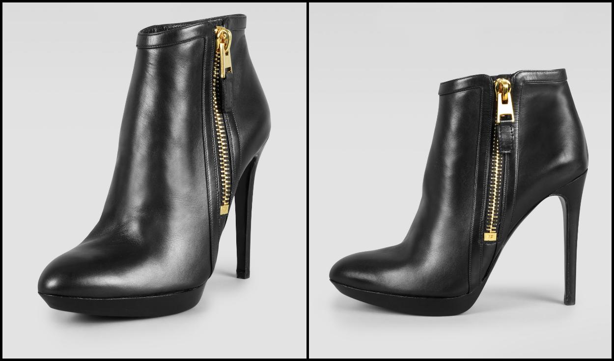 Black Bootie Flat Shoe