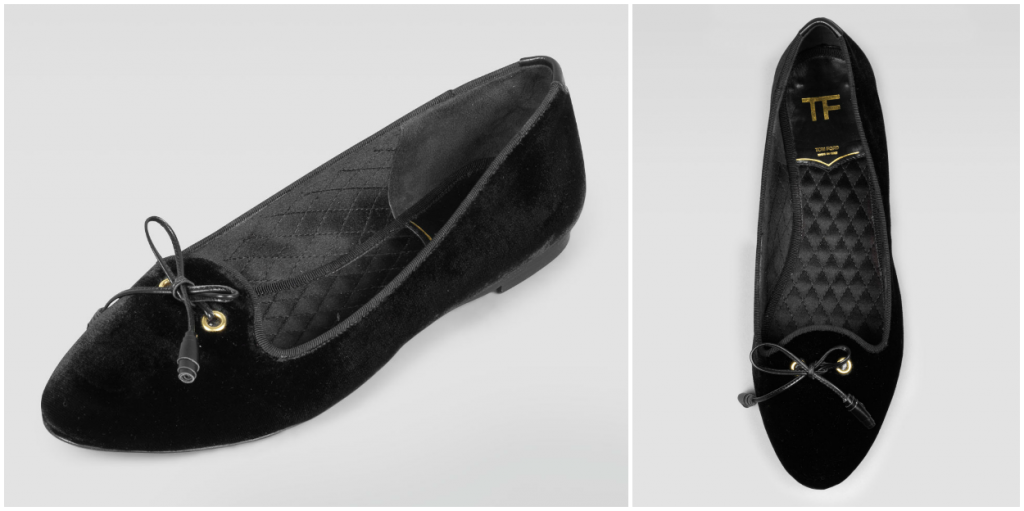 HOT: Buy TOM FORD Shoes and Handbags Online Now! TOM FORD VELVET SMOKING SLIPPER 1024x511