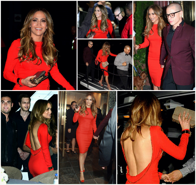 Who Wore it Best: TOM FORD Double Georgette Zip Cocktail Dress jennifer lopez tom ford