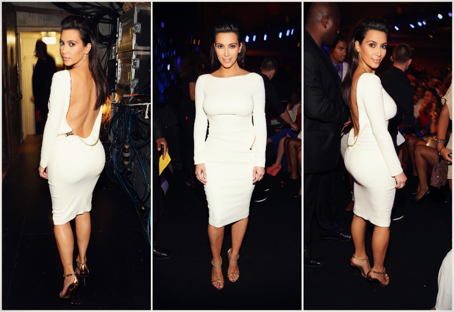 Who Wore it Better: TOM FORD Double Georgette Zip Cocktail Dress kim kardashian tom ford