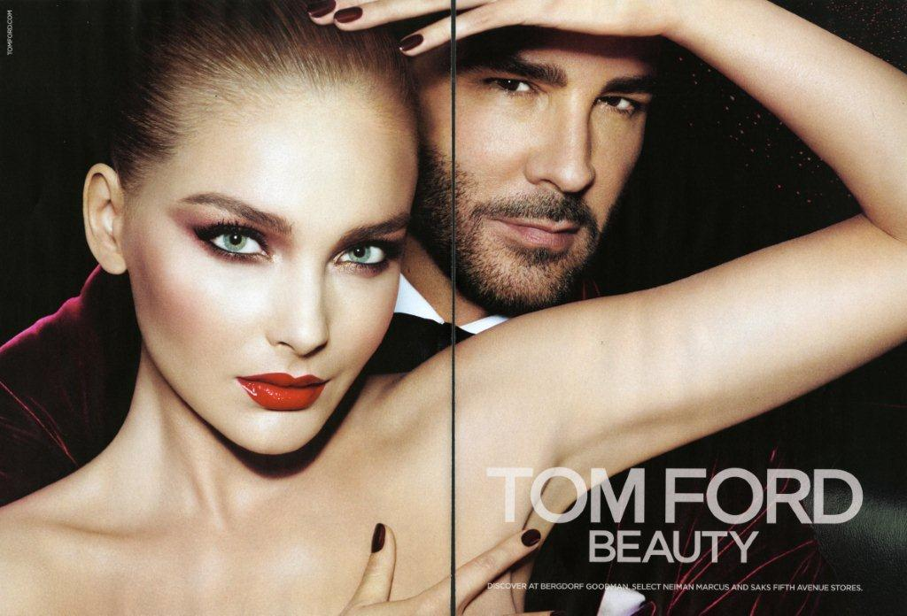 Snejana Onopka for TOM FORD Beauty Fall 2012 Tom Ford Beauty Fall 2012 photo Mert Alas and Marcus Piggot Stylist Katie Grand Makeup Charlotte Tilbury hair Garren model Snejana Onopka Women Management NYC double page 1