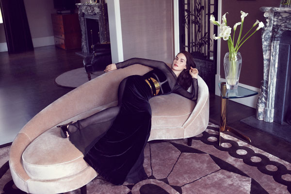 Post image for Michelle Dockery Wears TOM FORD for Harper&#8217;s Bazaar September 2012