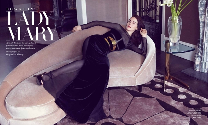 Michelle Dockery Wears TOM FORD for Harpers Bazaar September 2012 main 1345138012 hbz090112wellmichelledockery 1 
