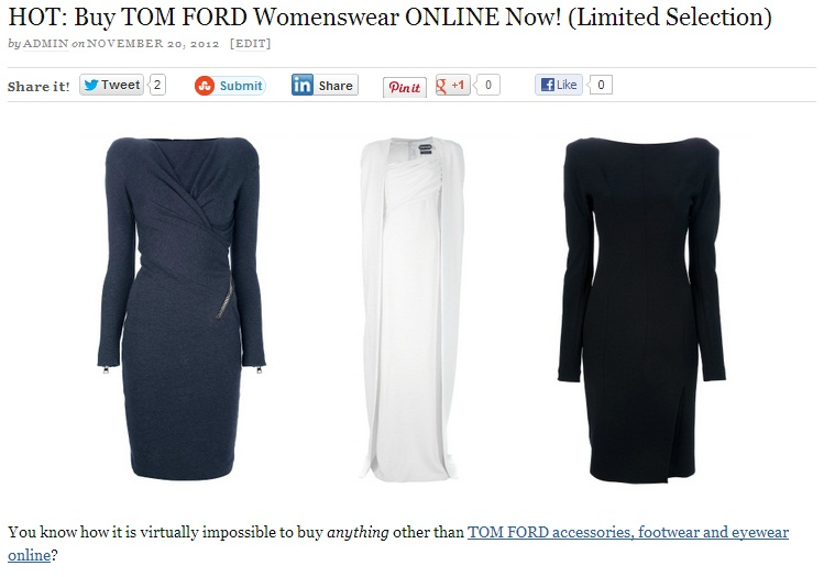TOM FORD: The Black Friday & Cyber Monday Deal List far fetch