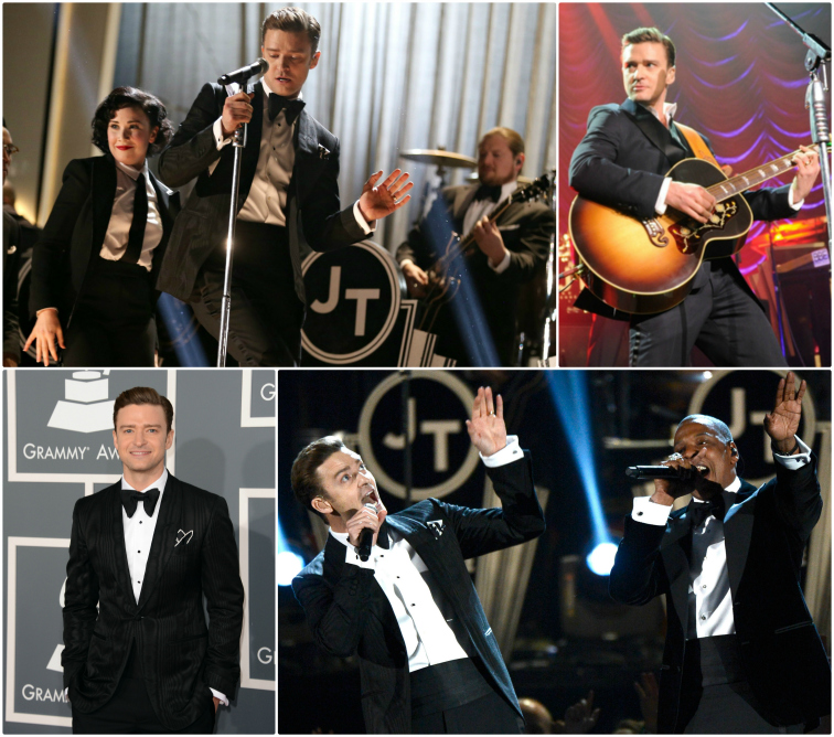Justin Timberlake Rocks a TOM FORD Suit & Tie at the 55th Grammy Awards JT Grammys TomFord