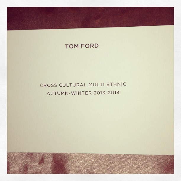 TOM FORD Fall/Winter 2013 2014 Womenswear Runway Show/London Fashion Week Photo by nickvinson4 