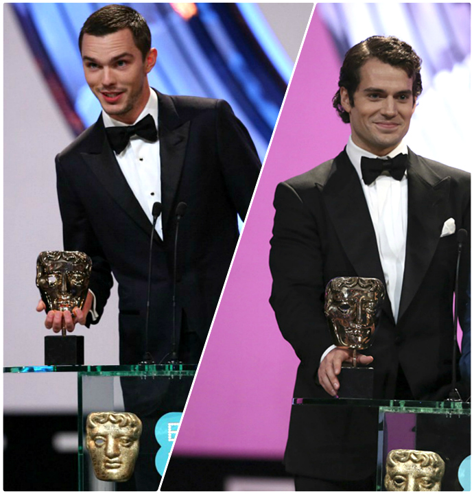 Spotted: Henry Cavill & Nicholas Hoult in TOM FORD at the BAFTAs hoult cavill
