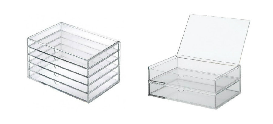 TOM FORD Beauty: Acrylic Cosmetic Storage Solutions (MUJI vs. ICEbOX) MUJI drawers1