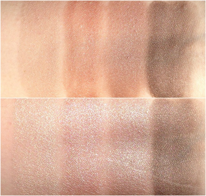REVIEW & SWATCHES: NUDE DIP LIMITED EDITION FALL 2014 EYE COLOR QUAD NUDEDIPWETSWATCH1 725x688