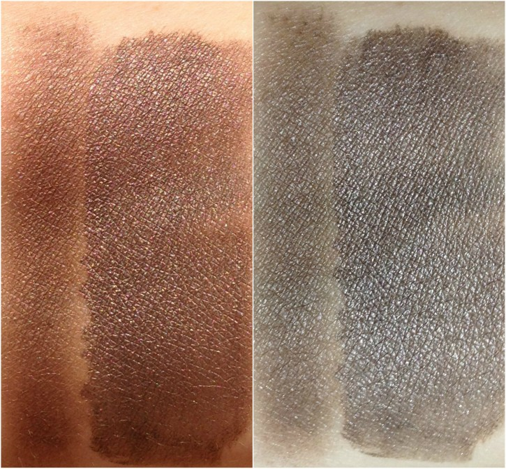 REVIEW & SWATCHES: NUDE DIP LIMITED EDITION FALL 2014 EYE COLOR QUAD NUDEDIP BOTTOMRIGHT WET DRY 725x673