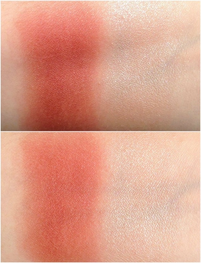 REVIEW & SWATCHES: FALL 2014 CONTOURING CHEEK DUO IN SOFTCORE Softcore Swatch1 651x850