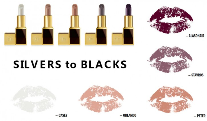 TOM FORD LIMITED EDITION LIPS & BOYS LIP COLOR COLLECTION SilversBlacks 725x426